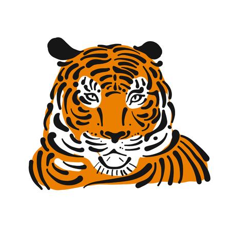 Tiger, sketch for your design. Vector illustration Banque d'images - 101284015