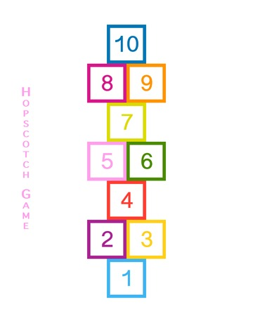 Hopscotch game for your design