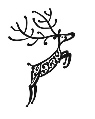 Ornate deer, sketch for your design Фото со стока