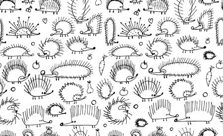 Grappige egels, naadloos patroon voor uw ontwerp