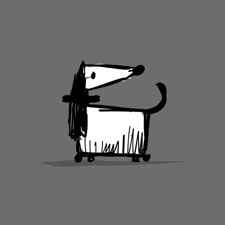 Greyhound dog, sketch for your design Ilustracja