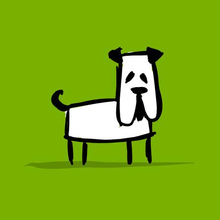 Funny bulldog, sketch for your design  イラスト・ベクター素材