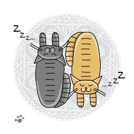 Sleeping cats, sketch for your design