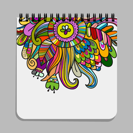 Notebook design, floral design