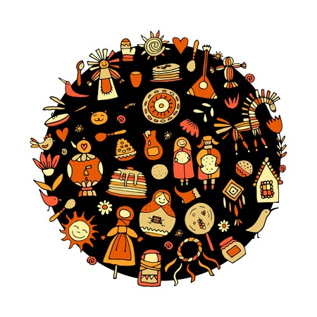 Maslenitsa or Shrovetide. Background for your design