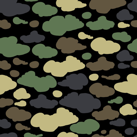 Camouflage background, seamless pattern for your design