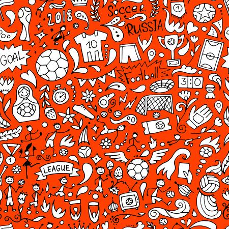 Soccer tournament, football league team international championship. Seamless pattern for your design. Vector illustration Stock Illustratie
