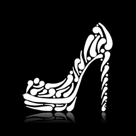Fashion shoes for your design Illustration
