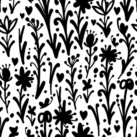 Floral seamless pattern, sketch for your design Archivio Fotografico - 102728878