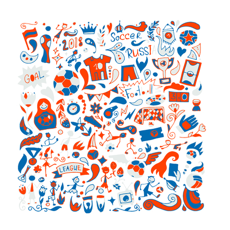 Soccer tournament, football league team international championship. Background for your design Illustration
