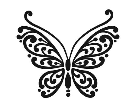Papillon orné pour votre conception. Illustration vectorielle