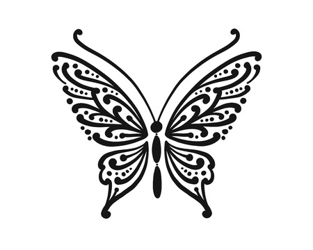 Ornate butterfly for your design Ilustracja