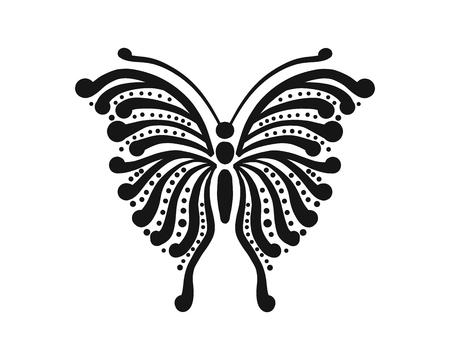 Ornate butterfly for your design Vettoriali