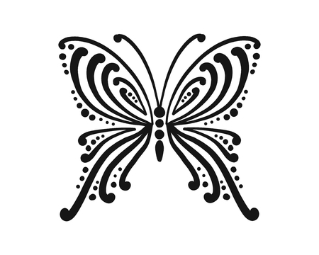 Ornate butterfly for your design Stock Illustratie