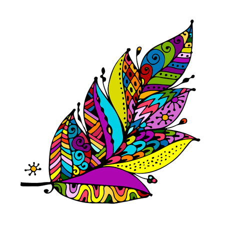 Art feather for your design Vectores