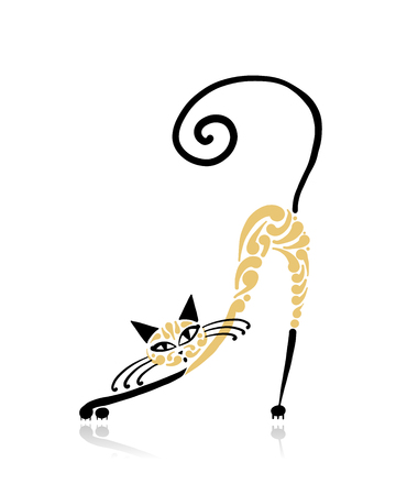 Siamese cat design. Vector illustration Vettoriali