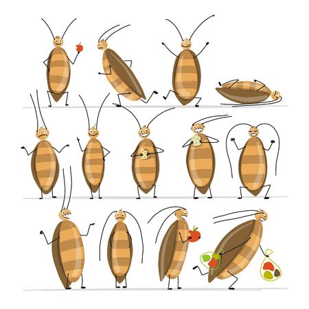 Lustige Kakerlaken für Ihr Design