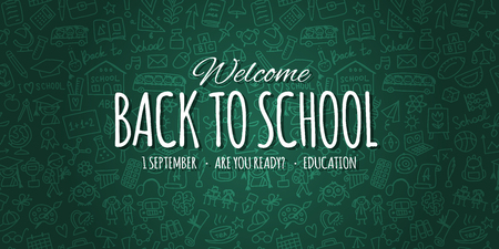 Back to school, background for your design. Vector illustration Illustration