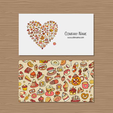 Business cards, design idea for sweets shop company Ilustração Vetorial