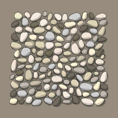 Pebble background for your design. Vector illustration 일러스트