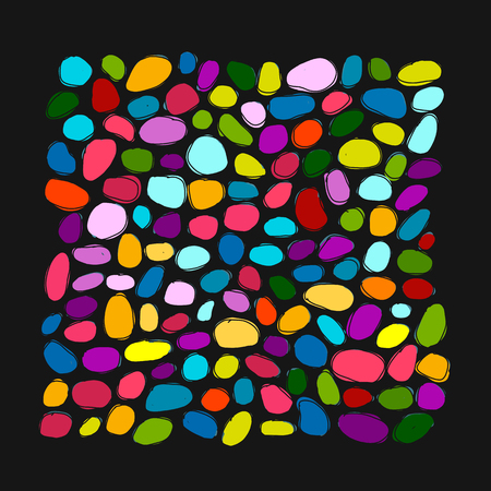 Pebble colorful background for your design. Vector illustration