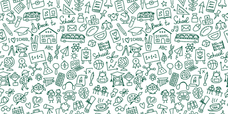 Retour à l'école, arrière-plan de votre conception. Illustration vectorielle Vecteurs