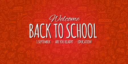 Back to school, background for your design. Vector illustration Illustration