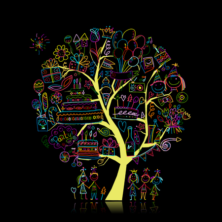 Birthday party tree for your design