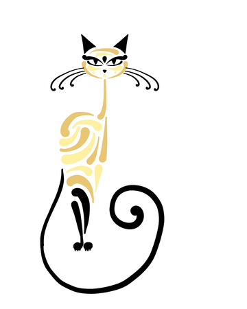 Siamese cat design. Vector illustration  イラスト・ベクター素材