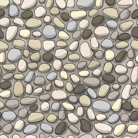 Pebble background, seamless pattern for your design. Vector illustration