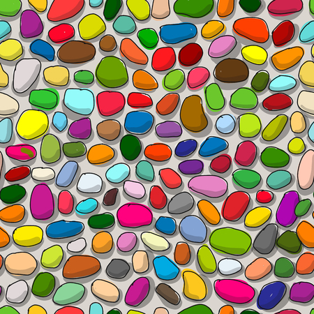 Pebble colorful background, seamless pattern for your design. Vector illustration