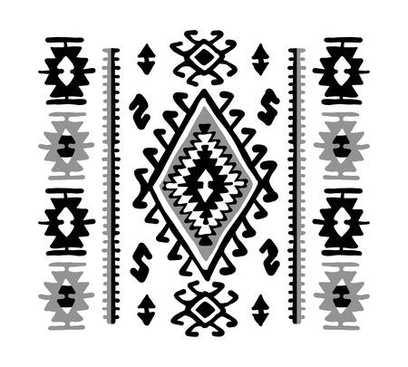 Orientalischer Mosaikteppich mit traditionellen volkstümlichen geometrischen Ornamen. Nahtloses Muster