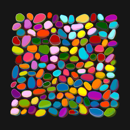 Pebble colorful background for your design