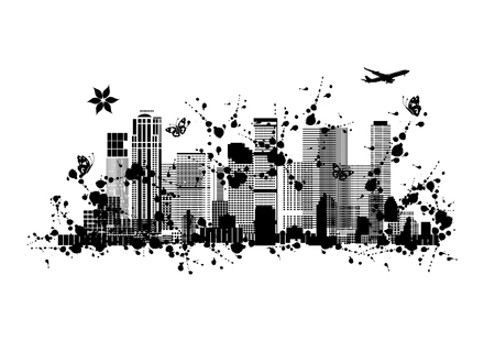 Metropolis, abstract silhouette for your design. Vector illustration