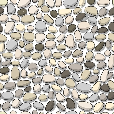 Pebble background, seamless pattern for your design. Vector illustration Stock fotó - 110475052