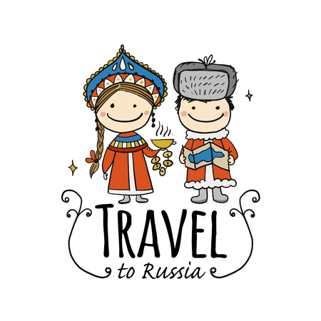 Travel to Russia. Sketch for your design 일러스트