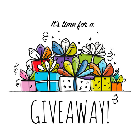 Giveaway banner for your design Çizim