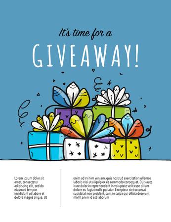 Giveaway banner for your design. Vector illustration