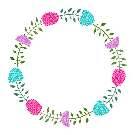 Hydrangea floral frame for your design. Vector illustration