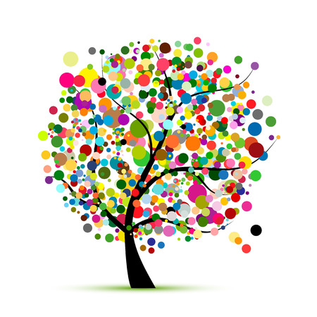Abstract colorful tree for your design 版權商用圖片 - 108094192
