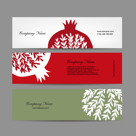 Banners design, pomegranate background. Vector illustration Illustration