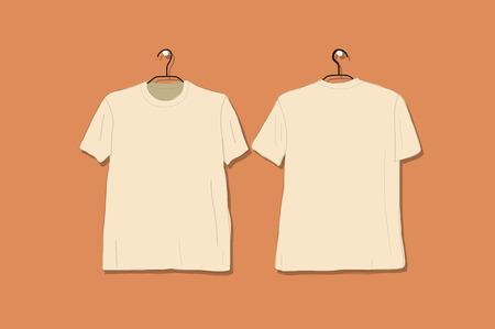 Tshirt mockup for your design. Vector illustration