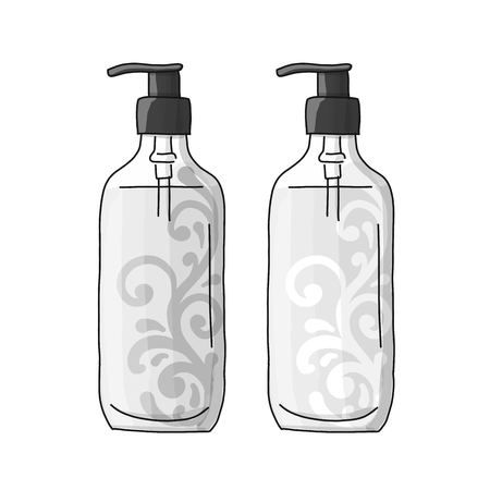 Bottle mockup, sketch for your design. Vector illustration Standard-Bild - 110076872