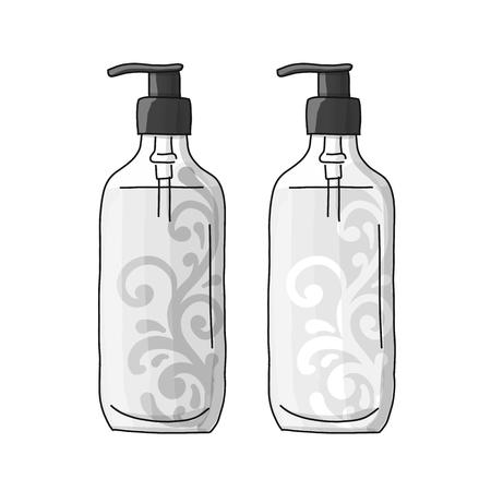Bottle mockup, sketch for your design. Vector illustration
