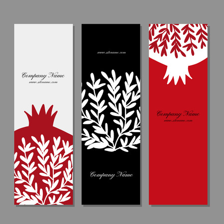 Banners design, pomegranate background. Vector illustration Stock Vector - 110076875