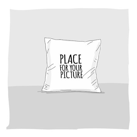 Pillow mockup with place for your design. Vector illustration Archivio Fotografico - 110076880