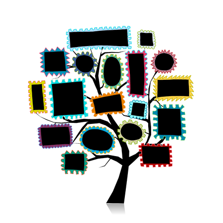 Post stamp tree for your design Banco de Imagens - 108223995