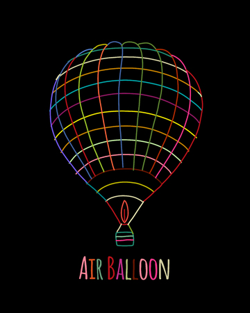 Air balloon for your design. Vector illustration