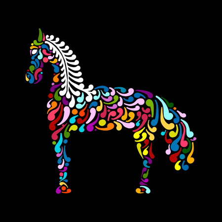 Ornate horse silhouette for your design
