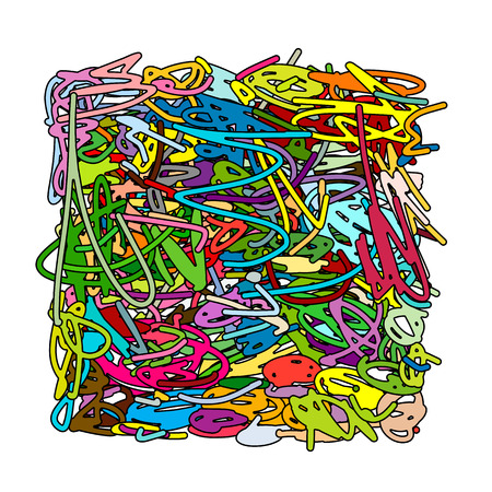 Abstract scribble background for your design